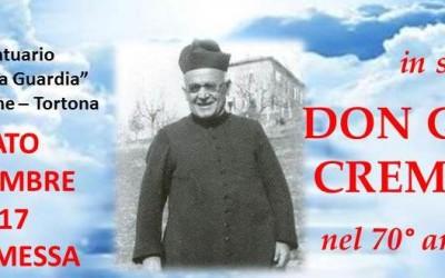 Sabato 5 novembre: Ricordo del 70° anniversario di Don Giulio CREMASCHI