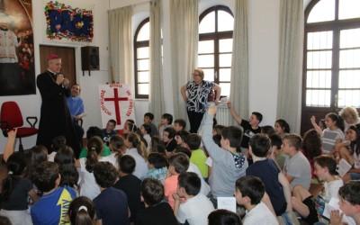 17 mag: Visita Pastorale del Vescovo Viola ai malati, incontro con i bambini del catechismo, catechiste e consiglio pastorale – FOTO