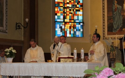 18 mag: Visita Pastorale del Vescovo Mons. Viola alle Scuole, aziende e Santa Messa nella Chiesa Parrocchiale – FOTO