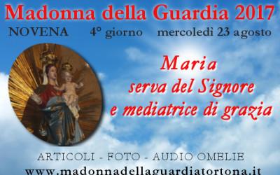 23 ago: 4 giorno della Novena – Maria serva del Signore – FOTO ed AUDIO OMELIE