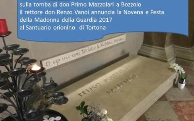TORTONA: Video annuncio del rettore per la Novena della Guardia sulla tomba di don Mazzolari a Bozzolo – guarda il VIDEO ANNUNCIO