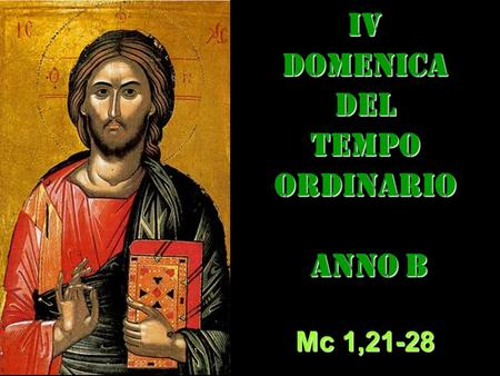 IV dom del Tempo Ordinario – AUDIO commento di don Achille Morabito