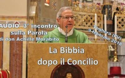 Lettura della Bibbia_3° incontro sulla Scrittura di don Achille Morabito – AUDIO della conferenza