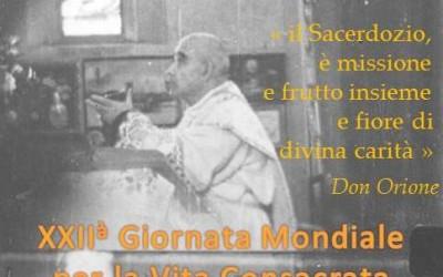 2 febbraio: XXII Giornata mondiale per la Vita Consacrata