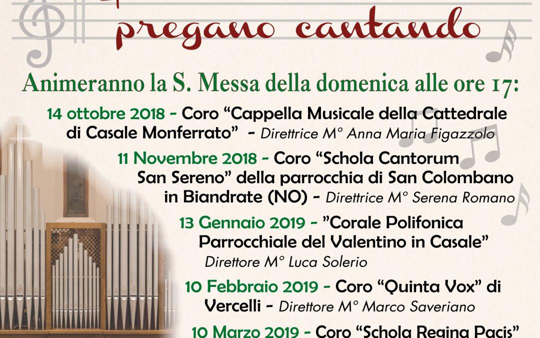 """Seconda edizione delle """"Corali insieme pregano cantando"""" – SCARICA LA LOCANDINA CON LE DATE"""