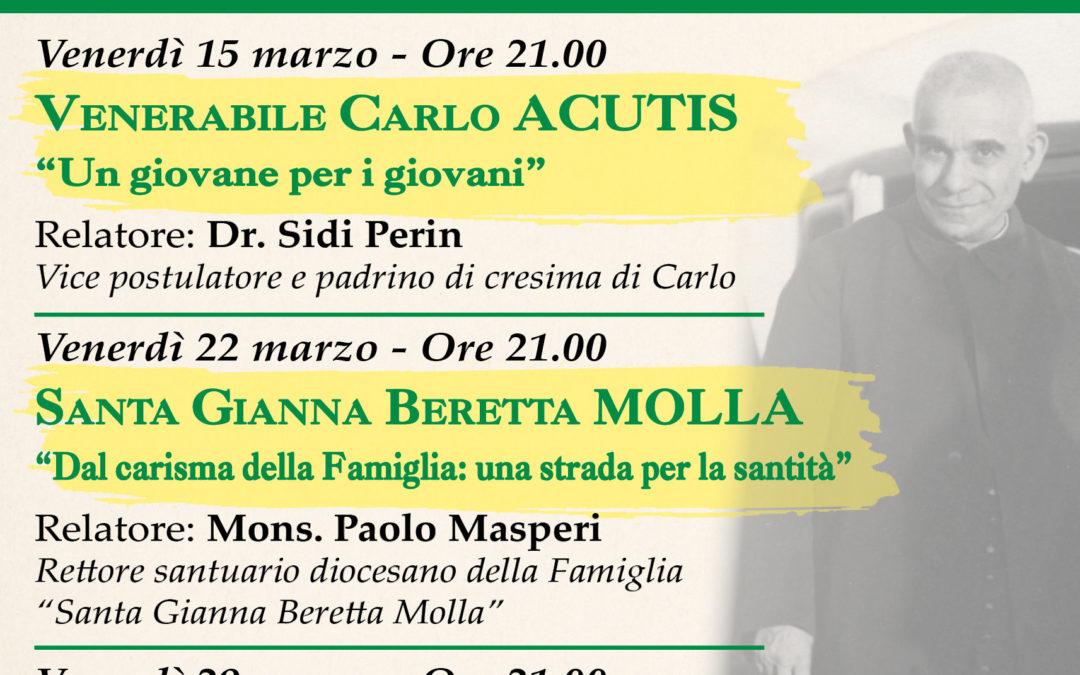 TORTONA (Don Orione): MARZO ORIONINO 2019 SULLE FIGURE DI CARLO ACUTIS, GIANNA BERETTA MOLLA E PIER GIORGIO FRASSATI