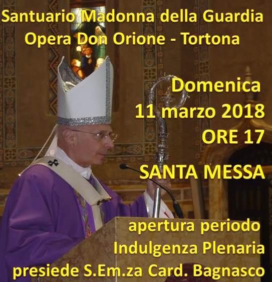 DOMENICA 11 MARZO IL CARD. BAGNASCO APRIRA' IL PERIODO DELL'INDULGENZA PLENARIA