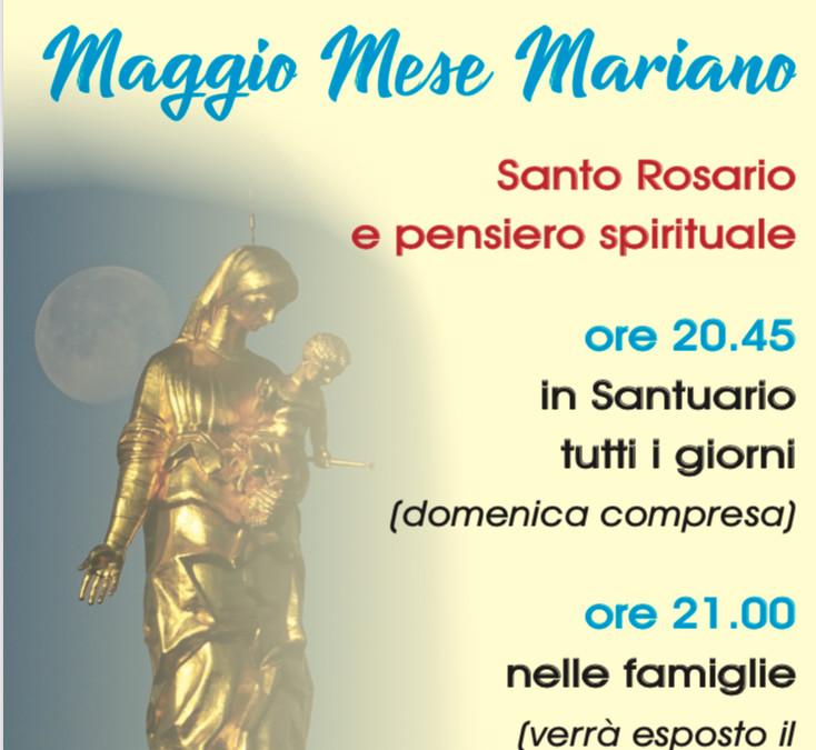 Mese Mariano: in Santuario ore 20.45 recita del santo rosario e pensiero spirituale