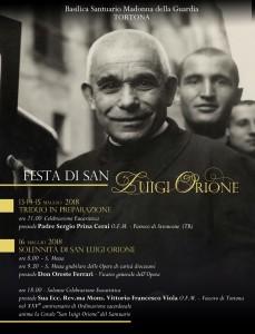 Festa di San Luigi Orione (16 maggio) – programma triduo e solennità