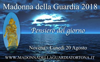 20 ago: Pensiero quotidiano della Novena alla Madonna della Guardia
