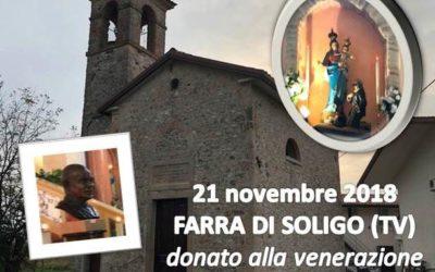 Don Orione nella Cappelletta della Madonna della Guardia a Farra di Soligo (TV) – FOTO – AUDIO E VIDEO