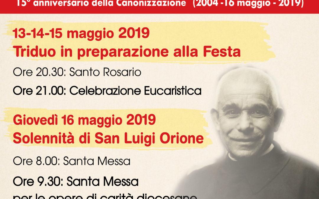 Tortona (Santuario): Celebrazioni in onore di San Luigi Orione nel 15° anniversario della Canonizzazione