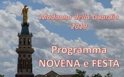 Madonna della Guardia 2019 – PROGRAMMA della NOVENA e FESTA