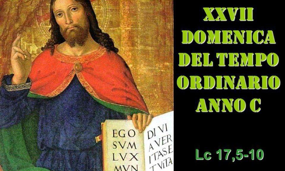 XXVII dom del Tempo Ordinario – AUDIO commento di don Achille Morabito