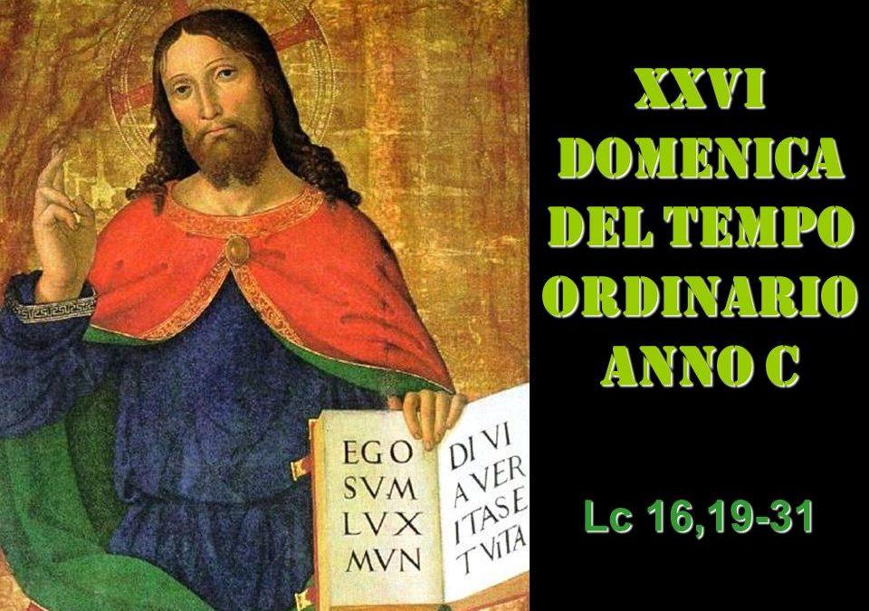 XXVI dom del Tempo Ordinario – AUDIO commento di don Achille Morabito