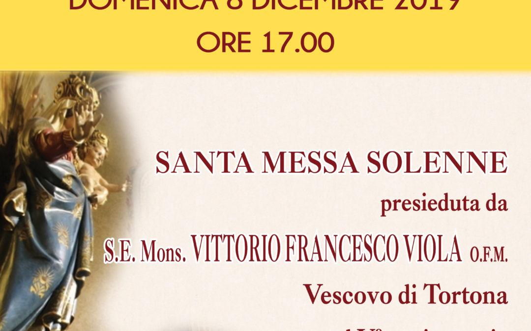 Tortona (Santuario): 8 dicembre ore 17 – Messa nel V° Anniversario di Ordinazione Episcopale del Vescovo Vittorio Francesco Viola ofm