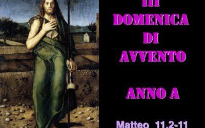 III dom di AVVENTO – AUDIO commento di don Achille Morabito