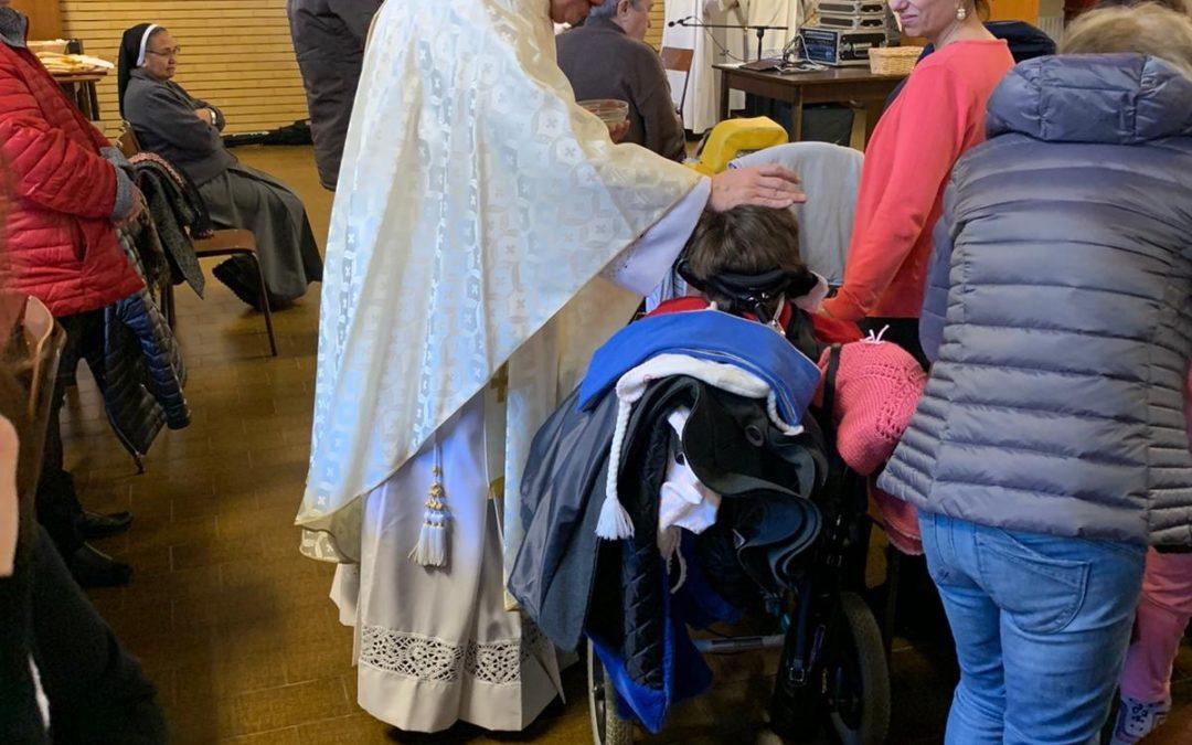 11 febbraio 2020: Le opere di carità orionine di Tortona hanno celebrato al Mater Dei la giornata del malato