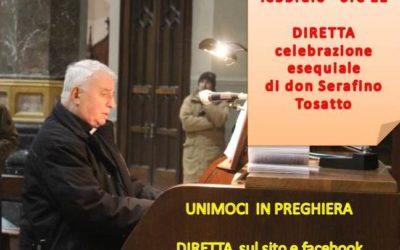 Tortona (Santuario): domani, venerdì 28 febbraio, alle ore 11, funerali di Don Serafino Tosatto in DIRETTA su internet e su facebook.